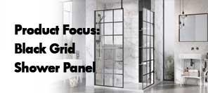 Black Grid Shower Panel