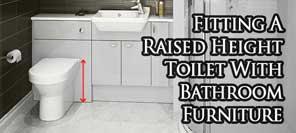 Comfort Height Toilet On Bathroom Furniture