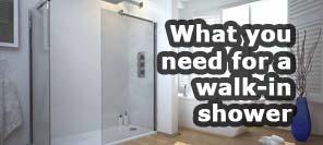 how to make a walkin shower