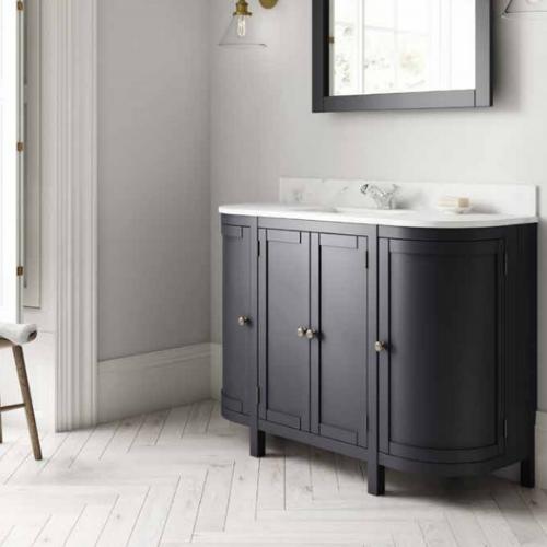 Traditional Bathroom Vanity Unit Etienne 1200mm Curved Bathroom Vanity