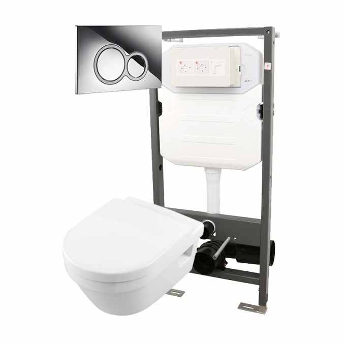Essentials Frame 1140mm & Opaz 2 Wall Hung WC Pack 1140i