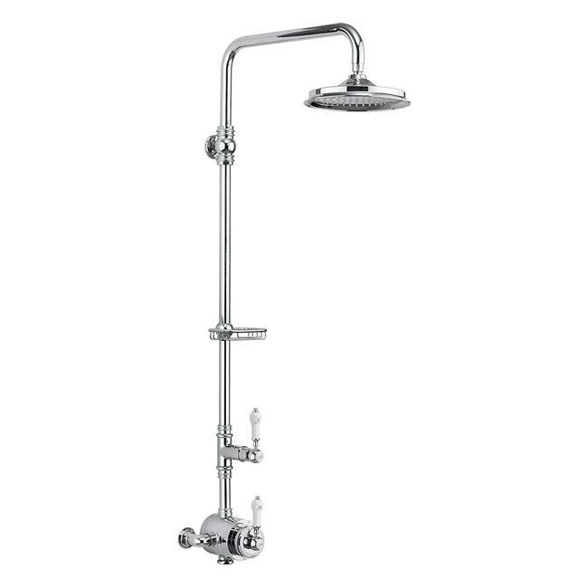 Burlington Stour Exposed Traditional Shower with Rigid Riser & Fixed Head - BF2S