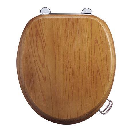 Burlington Golden Oak Real Wood Traditional Toilet Seat
