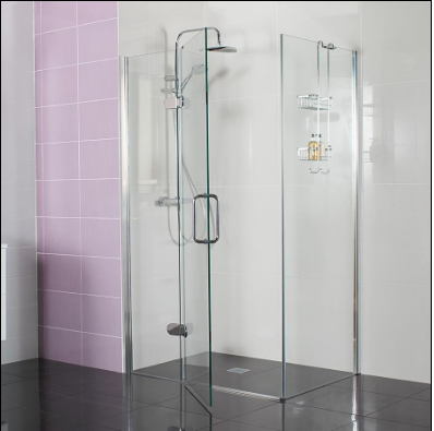 Decem Hinged Door Shower Enclosure 1200 x 900mm with Hinged In-line Panel for Corner Fitting by Roman Showers