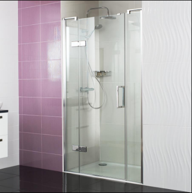 Decem Hinged Door Shower Enclosure 1200mm with Two In-line Panels for Alcove Fitting by Roman Showers
