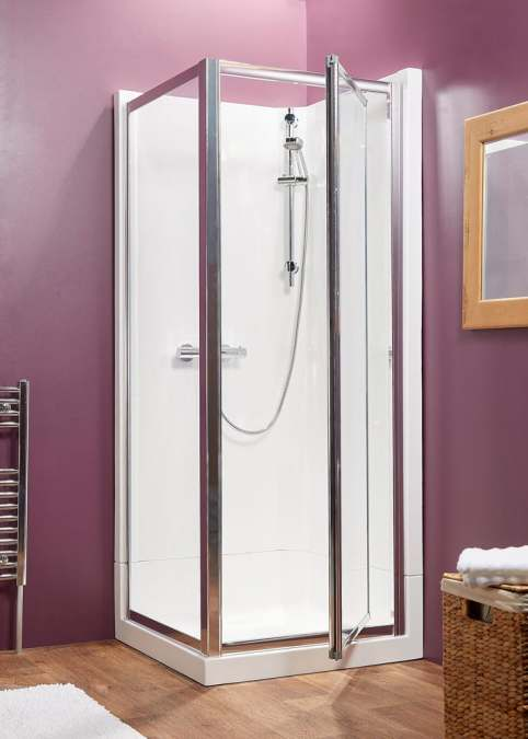 Kubex Eclipse Range Shower Pod - 920mm - Corner Pivot & Side Panel