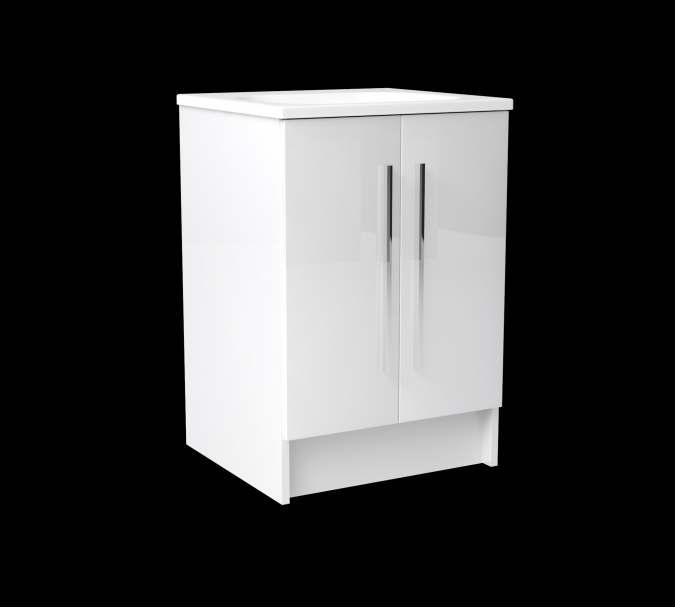 gloss gloss modular bathroom furniture collection vanity. Noble 500mm Gloss White Floorstanding Double Door Vanity With Basin Modular Bathroom Furniture Collection