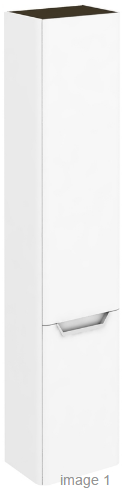 royo life 350mm tall wall unit in gloss white