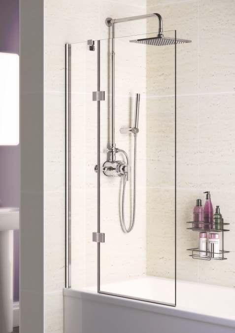 lakes bathrooms hinged bath screen 1000 1015 x1500mm