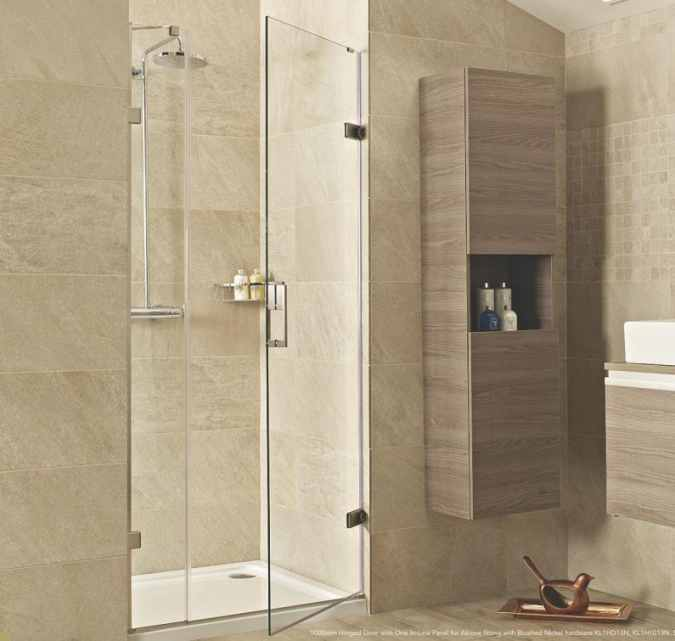 Roman Liberty 760mm Hinged Door with One In-Line Panel for Alcove Fitting - 10mm Glass