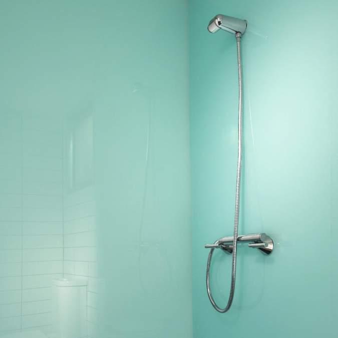 Lustrolite Glacier High Gloss Glass Effect Acrylic Bathroom Wall Panel