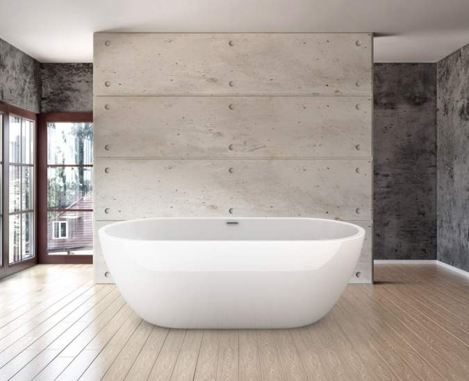 Lincoln LWFB8 Modern Freestanding Bath 1700mm X 670mm Lisna Waters