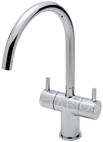 Sagittarius Piazza Twin Lever Kitchen Mixer Tap