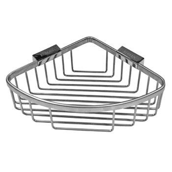 Roman Large Chrome Curved Corner Shower Basket - RSB02