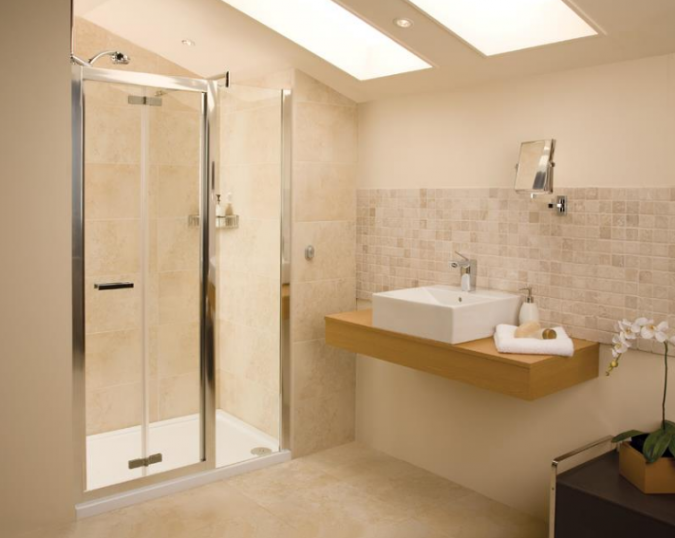 Bi-Fold Shower Door - 900 -  Silver - Roman Showers Embrace