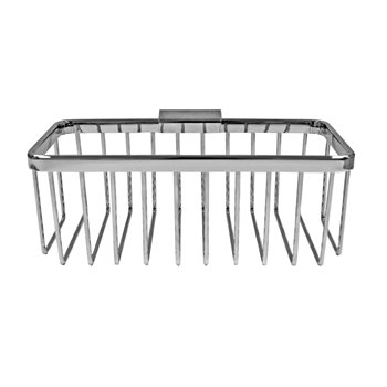 Roman Large Rectangular Chrome Shower Basket RSB06