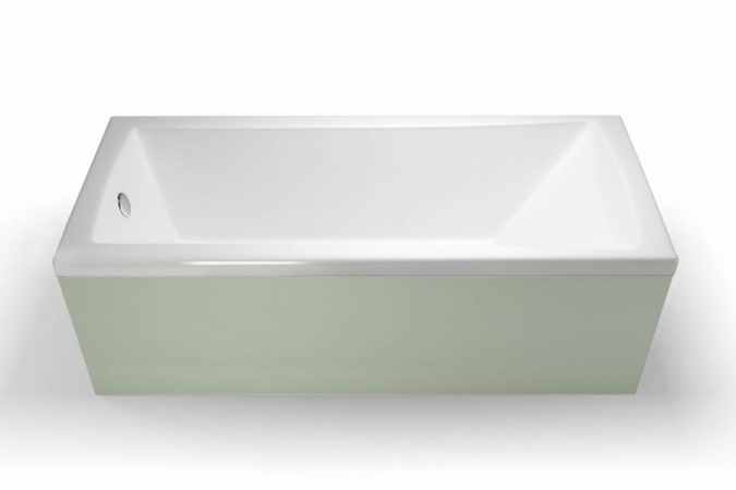 Sustain Reinforced Single Ended Square Bath - ClearGreen - 1600 x 700mm