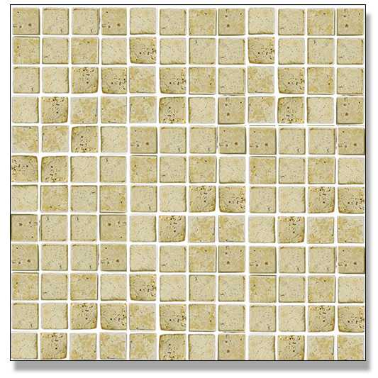 Abacus Travertine Marble Mosaic Single Colour 2.3cm 30 x 30cm
