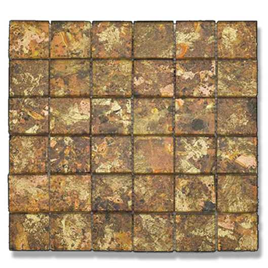 Abacus Bronze & Black Glass Mosaic Tile Sheet 300 x 300mm