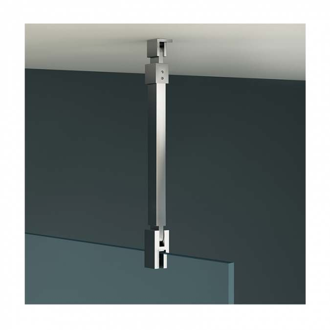 Vessini X Series Wetroom Glass Ceiling Support Arm 1000mm