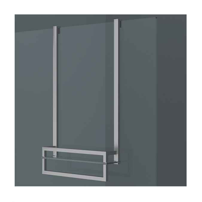 Vessini X Series Wetroom Glass Towel Hanging Bar with Glass Shelf