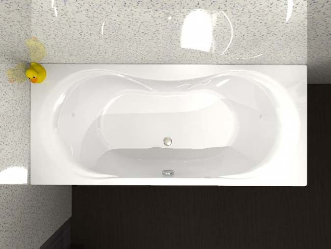 Carron Arc Duo - Carronite - Double Ended Bath - 1800 x 800mm