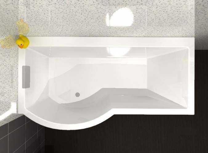 Buy Carron Celsius P Shaped Shower Bath 1700 X 750mm Free