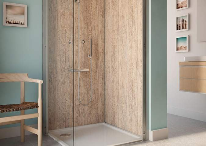 Selkie Rearo Driftwood Shower Panel Kits at Discounted Prices ...
