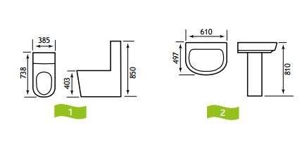 Metro 4 Piece Bathroom, En-Suite or Cloakroom Set