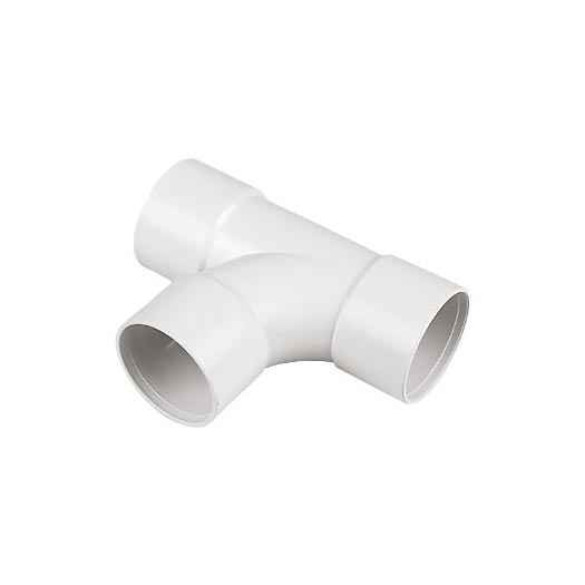 FloPlast ABS Solvent Fit 32mm - TEE T Piece - White - Waste Pipe