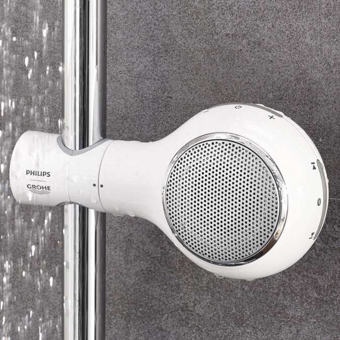 Grohe Philips Aquatune Wireless Waterproof Bluetooth Shower Speaker