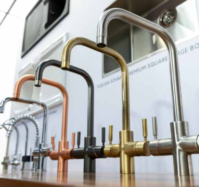 Tuscan Bollente 3-in-1 Instant Hot Water Kitchen Tap - Brushed Gold