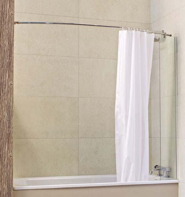 Roman Lumin8 Mini Fixed Bathscreen with Curtain Rail V8CC213S Online ...