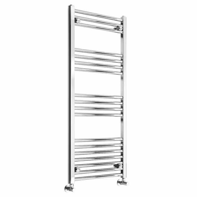 Reina Capo Flat Towel Rail - 1200 x 500mm - Chrome - FREE Valves