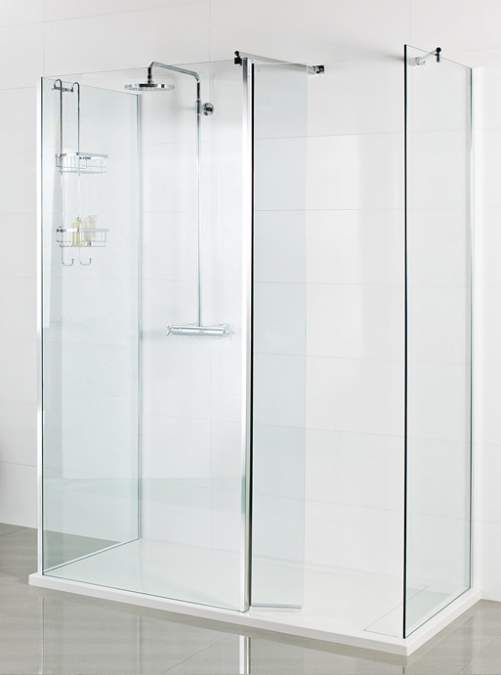Roman Showers Select 400mm Pivoting Deflector Panel (8mm Glass)