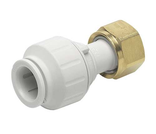 "15mm x 3/4""  Straight Tap Connector Brass Nut - JG Speedfit - 5 Pack"