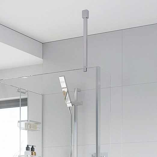 Roman Square Wetroom Glass Ceiling Support Bar For 6, 8 & 10mm Glass - LBBKC50SQ
