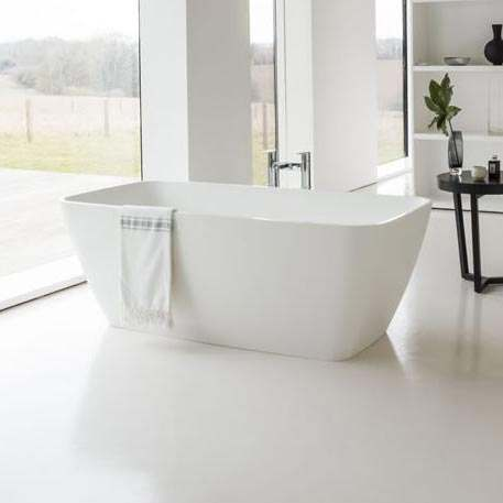 ClearWater Vicenza Grande 1800 x 800mm Clear Stone Freestanding Bath ...