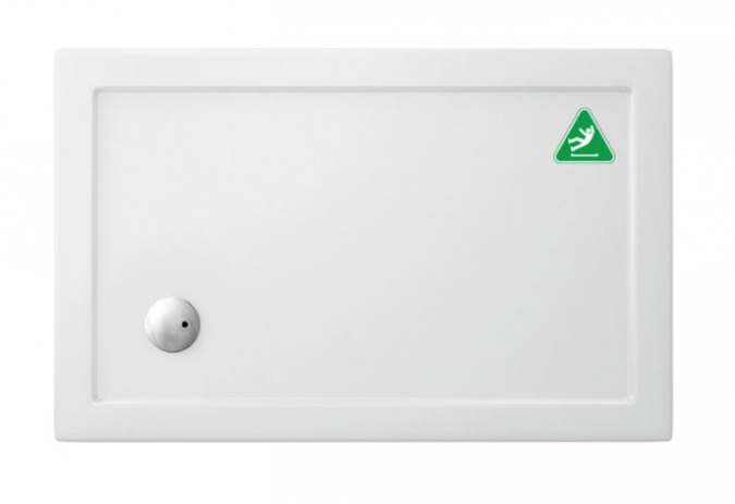 Zamori Anti-Slip Rectangular Shower Tray - 1000 x 900 - Corner Waste - Z1168A