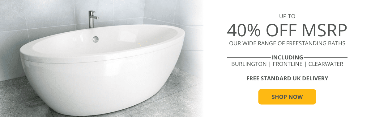 up to 40% off MSRP freestanding baths