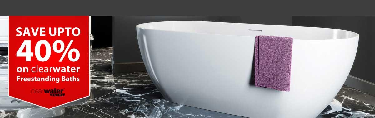 ClearWater Baths 40  Homepage. Bathroom Suites   Baths   Toilets   Showering Supplies   Rubber