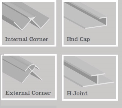 Acrylic Wetwall Trims & Accessories