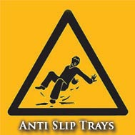 Anti-slip shower trays
