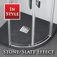 Stone & Slate Quadrant Shower Trays