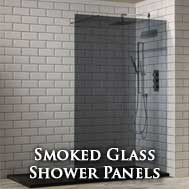 Smoked glass wetroom panels