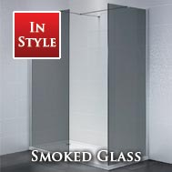 Smoked Glass Wetroom Glass Panels