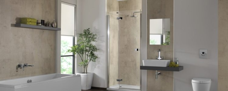 Attractive ShowerWall Urban Concrete