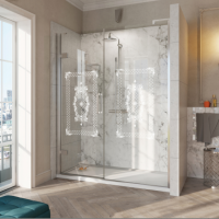 Roman 1000mm DECEM Alcove Fitting Victoriana Print Hinged Door Shower Enclosure