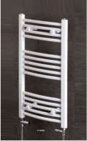 Wendover White Curved Towel Rail - 600 x 400mm
