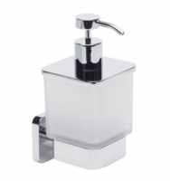 Roper Rhodes Igntie Frosted Soap Dispenser 70(w) x 100(h) x 100mm(d)